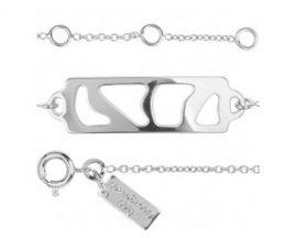 Bracelet chaîne Les Georgettes Perroquet argenté