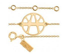 Bracelet chaîne Les Georgettes ibiza doré 16 mm