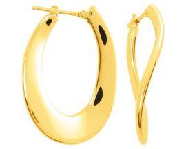 Boucles d'oreilles créoles plaqué or Robbez Masson - 135555