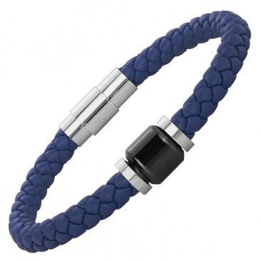 Bracelet cuir acier & céramique Phebus - 35-0907