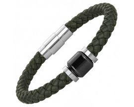 Bracelet cuir acier & céramique Phebus - 35-0908