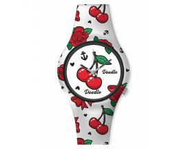 Montre femme Retro rouge Doodle - DO35002