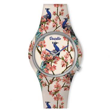 Montre femme Paon et fleurs Doodle - DO35005