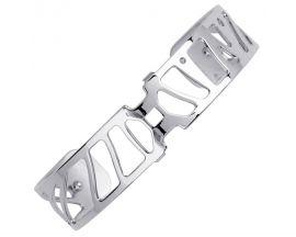Bracelet manchette Les Georgettes - Les Coutures Perroquet argenté 14 mm