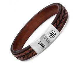 Bracelet cuir et argent Rebel & Rose - RR-L0079-S-L