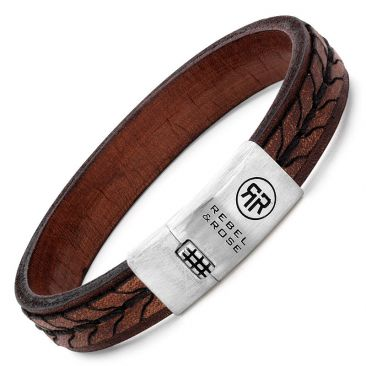 bracelet cuir et argent