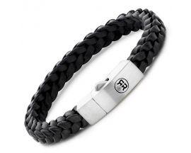 Bracelet cuir et argent Rebel & Rose - RR-L0081-S-L