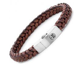Bracelet cuir et argent Rebel & Rose - RR-L0082-S-M