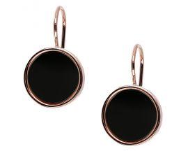 Boucles d'oreilles brisures plaqué or rose et onyx Bronzallure - WSBZ01321.BO