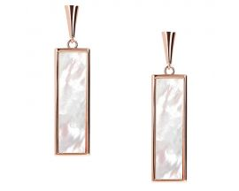 Boucles d'oreilles pendants plaqué or rose Bronzallure - WSBZ01385.WM