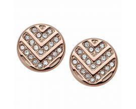 Boucles d'oreilles boutons acier Fossil - JF02745791