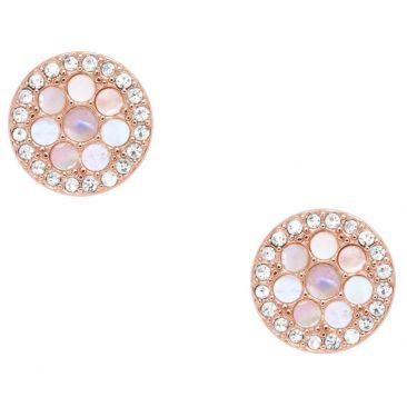 Boucles d'oreilles boutons acier Fossil - JF02906791