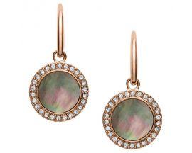 Boucles d'oreilles pendants acier Fossil - JF02950791