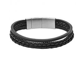 Bracelet cuir et acier Fossil - JF02935001