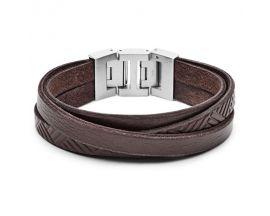 Bracelet cuir et acier Fossil - JF02999040