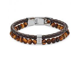 Bracelet cuir et acier Fossil - JF03118040