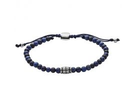 Bracelet perle acier et sodalite Fossil - JF02888040