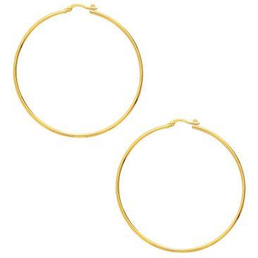 Boucles d'oreilles créoles plaqué or Robbez Masson - 105281