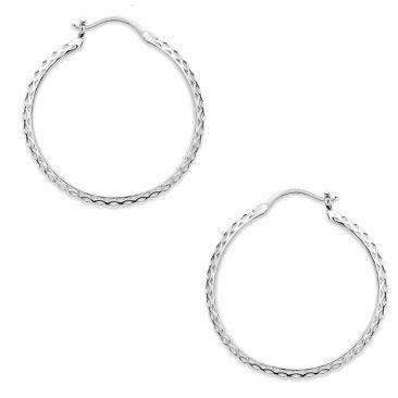 Boucles d'oreilles créoles argent Stepec - SXISPPP