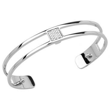 Bracelet manchette Les Georgettes - Barrette argenté 8 mm