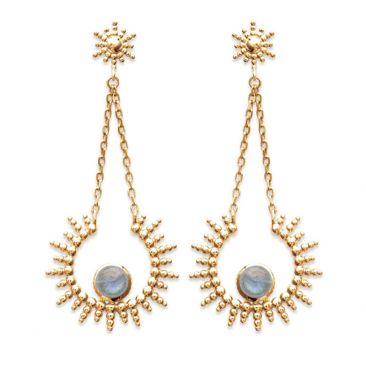 Boucles d'oreilles pendants plaqué or Stepec - IUUJPBU