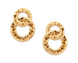Boucles d'oreilles boutons plaqué or Stepec - IUUTPPP