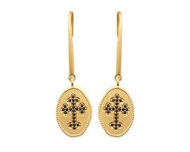 Boucles d'oreilles pendants plaqué or oxydes Stepec - IUUEPPS