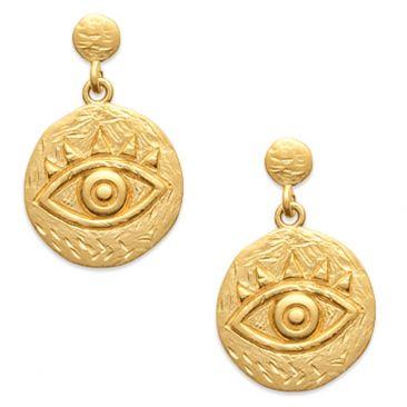 Boucles d'oreilles pendants plaqué or Stepec - IUUEBPP
