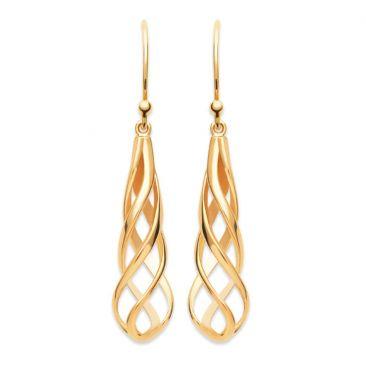 Boucles d'oreilles pendants plaqué or Stepec - IUUEXPP