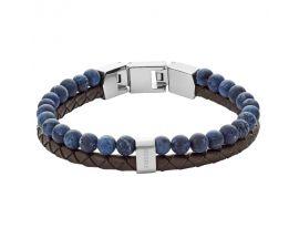 Bracelet cuir et acier Fossil - JF02830040