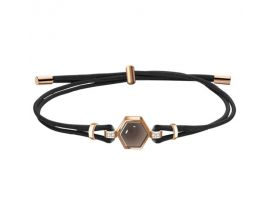 Bracelet acier et cuir Fossil - JF03062791