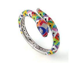 Bracelet rigide argent oxydes Una Storia - JO121176