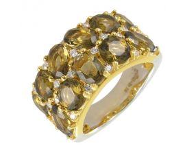 Bague argent doré cristaux Orus - BA2479BRUN
