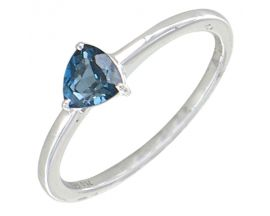 Bague or topaze & blue london H.Gringoire - BC 2353 TB LOND