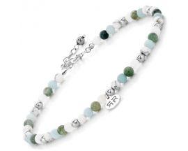 Bracelet de cheville perles Rebel & Rose Green Fantasty 4mm - RR-AK003-S