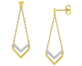 Boucles d'oreilles pendants or oxydes Robbez Masson - 297017.Z3