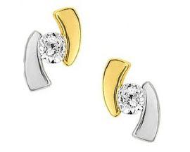 Boucles d'oreilles boutons or oxydes Robbez Masson - 29SE21BZ