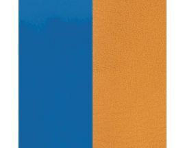 Cuir bracelet Les Georgettes - Bleu vif vernis/Moutarde 8 mm