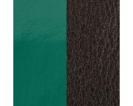 Cuir bracelet Les Georgettes - Vert pin vernis/Brun 8 mm
