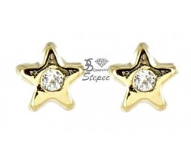 Boucles d'oreilles boutons or Stepec - XUES