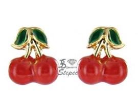 Boucles d'oreilles boutons or Stepec - 6603