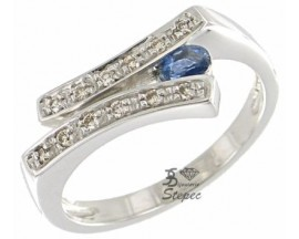 Bague or saphir(s) et diamant(s) Stepec - 6748S2B2