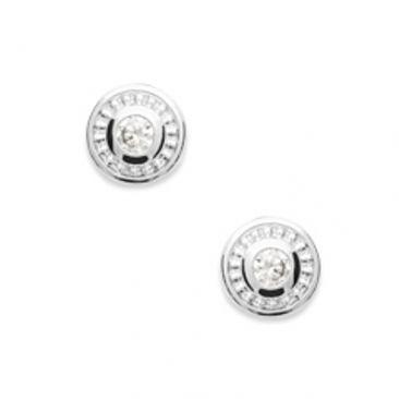Boucles d'oreilles boutons argent et oxydes Stepec - BUXBUBP