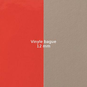 Vinyle bague 12 mm Les Georgettes - Corail vernis/Taupe