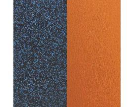 Cuir bracelet Les Miss Georgettes - Glitter bleu/Abricot 12 mm