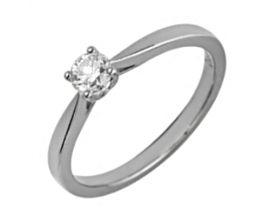 Bague solitaire or blanc & diamant synthétique Diamanti - DS1001.21