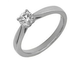 Bague solitaire or blanc & diamant synthétique Diamanti - DS1002.21