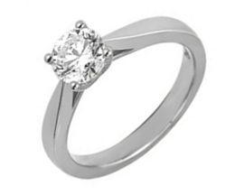 Bague solitaire or blanc & diamant synthétique Diamanti - DS1004.21
