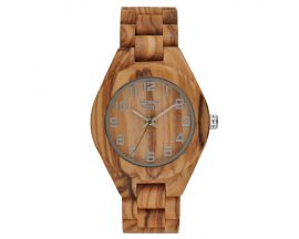 Montre homme bois d'olivier Greentime - ZW058A
