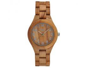 Montre dame bois d'olivier Greentime - ZW059A